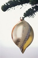 Ornamental Ball Hanging on Christmas Tree