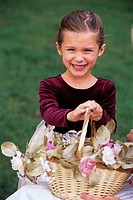 Flower Girl Holding Basket