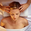 Woman Receiving Scalp Massage