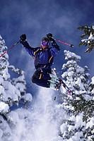 Skier in Mid Air