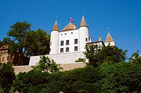 an old castle in Nyon, Switzerland