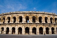 Stock photo an arena in Nimes, France