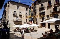Main Square, Valderrobres. Matarraña, Teruel province, Aragón, Spain