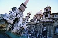 Fontana dei Quattro Fiumi and Sant´Agnese in Agone