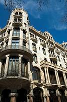 Casa Fuster by Lluís Domènech i Montaner in Passeig de Gràcia, Barcelona. Catalonia, Spain