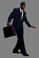 Businessman with Briefcase Balancing