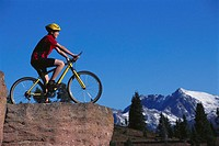 Child on Mountain Bike Enjoying View