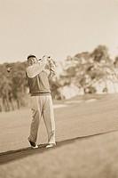 Golfer Taking a Swing