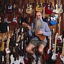 Music Store Merchant with Guitars