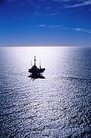 Oil Drilling Platform at Sea