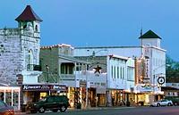 Main Street. Fredericksburg. Hill Country. Texas, USA.