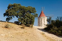 Alphonse Daudet's windmill. Fontvieille. Provence. France