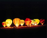 Germany, Baden-Württemberg, %0ABallonfestival, hot-air balloons, %0A´Ballonglühen´, Nacht%0AEvent, event, party, balloon meetings, sport, hobby, leisu...