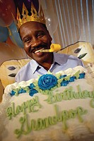 Man Holding Birthday Cake