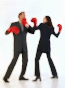 Businesspeople Boxing