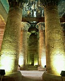 Columns of the Temple of Horus in Idfu