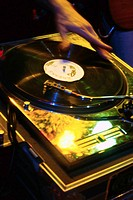 DJ´s Hand Scratching Record
