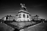 Equestrian Statue of King Frederick V in Amalienborg, Copenhagen by Jacques-Francois-Joseph Saly