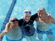 Smiling Seniors in Swimming Pool