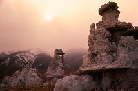 Travertine Formations at Mono Lake