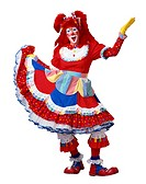 Female Clown in Costume