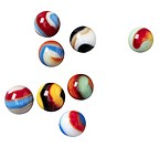 Set of Colorful Marbles