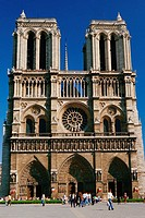 Facade of the Cathedral of Notre Dame