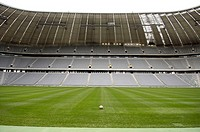 Germany, Upper Bavaria,  München-Fröttmaning, Fußballstadion, Alliance arena, lawns, football, no property release! Europe, Bavaria, stadium, sport st...