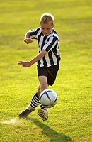 boy, soccer game    Child, childhood, youth, 8-12 years, leisure time, hobby, game, soccer players, game field, sport, sport, athletically, football b...