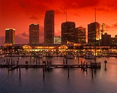 Bayside &amp; downtown, Miami, Florida, USA