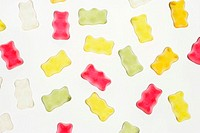 Little rubber bear, differently, detail   Series, food, fruit rubber, fruit rubber, candies, sweet, sweetly, Naschzeug, eat candy, colorfully, taste, ...