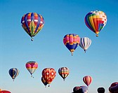 heaven, hot-air balloons, colorfully,  different   USA, New Mexico, Albuquerque, Hot air balloon Fiesta balloon festival festival, event, balloons, ba...