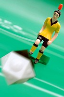 Soccer game, toy, soccer field,  Game figure, ball, game scene, shot, Symbol football WM 2006, only positive application, Sport, team sport, team game...