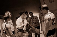 Coach Speaking with Basketball Team
