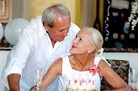 Couple celebrating birthday