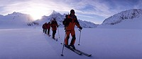 ski, tour, ski tour, group, winter, winter sports, snow, sports, mountains, Alps, Switzerland, Europe, Canton Valais,