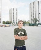 Mathias Silhan, Pro Inline Skater, France, personal rights heed!  Croatia, split, skyscrapers, place,  Teenager, Inlineskates, poor  cross, gaze camer...