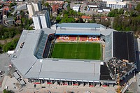 Germany, Rhineland-Palatinate,  Kaiserslautern, Fritz Walter stadium, Air reception, no property release,  Betzenberg, city, view over the city, sport...
