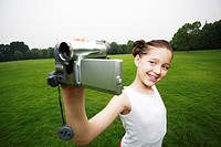 Girl recording images of herself