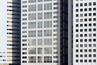 Japan, Tokyo, Shinagawa,  Office buildings, facade, detail,   Asia, city, city, buildings, offices, facades, skyscrapers, high-rise facade, uniformity...