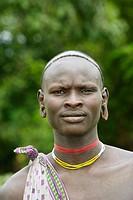 Surma man. Near Kibish. Ethiopia.