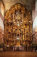 Altarpiece of the church of San Cayetano (built 1775-1788) by La Valenciana silver mine, Guanajuato. Mexico