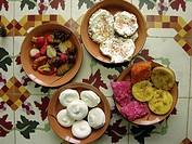 Campeche typical sweets for Dia de los Muertos. Mexico.