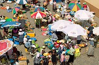Market. Assomada village. São Tiago island, Cape Verde