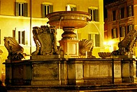 Piazza of Santa Maria in Trastevere, Rome. Lazio, Italy