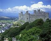 Scenic harlech castle, Snowdonia national park, Gwynedd, Wales, UK