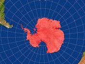 Highlighted Satellite Image Of Antarctica