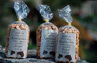 Dried, Chestnuts, as, souvenir,, Soglio,, Bergell,, Graubunden,, Switzerland