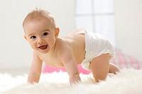 Baby boy ( 6-12 months ) crawling