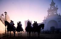 Spain, Andalusia, Sevilla region, El Rocio pilgrimage (Pentecost)